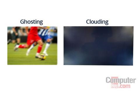 efecto ghosting y clouding