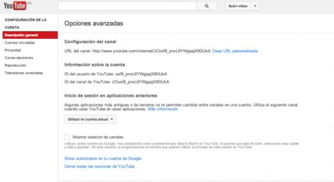 Crear URL personalizada Youtube