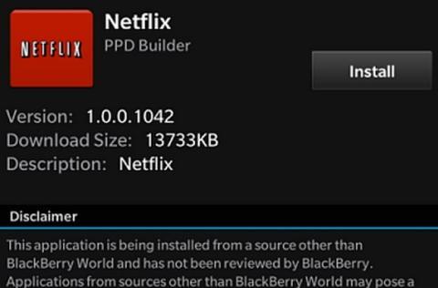 Netflix en BlackBerry
