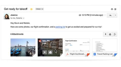 Gmail facilita la gestión de archivos adjunto