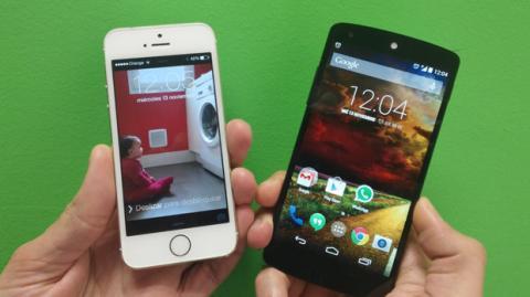 iPhone 5S contra Nexus 5