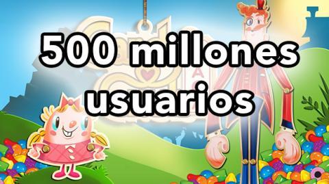 Candy Crush Saga 500 millones de usuarios