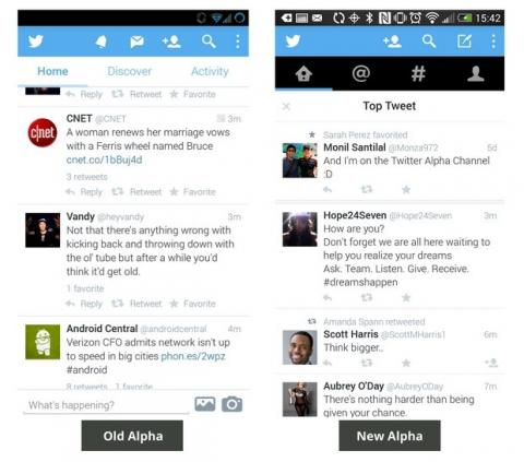 Twitter Interfaz