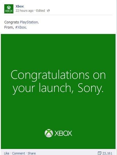 Microsoft felicita a Sony
