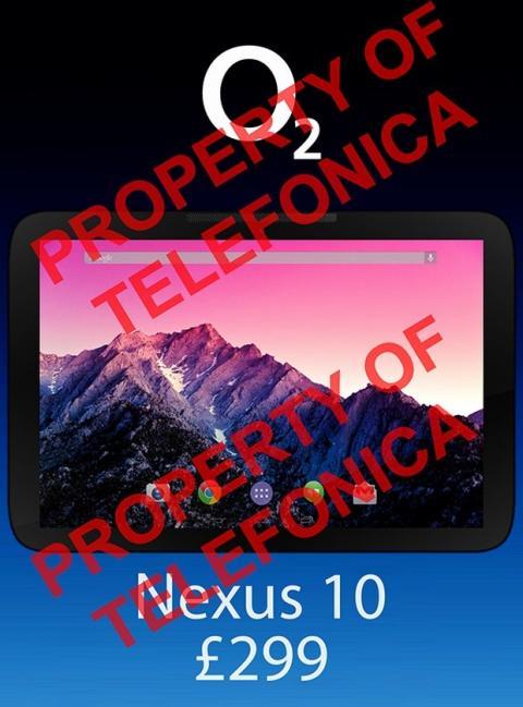 Imagen filtrada Nexus 10