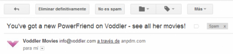 opciones email spam gmail