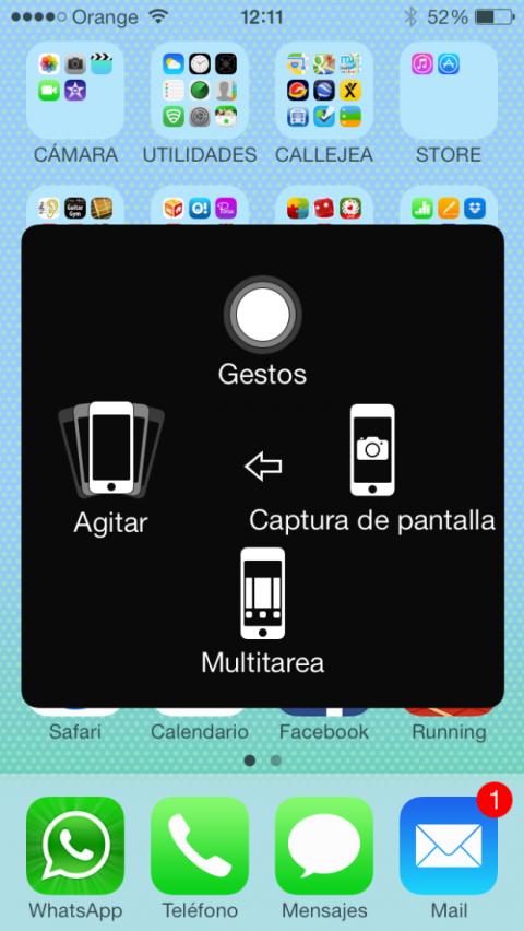 Más funciones de Dispositivo de AssistiveTouch