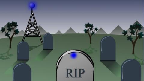 Rastreador de GPS en lápidas
