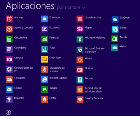 Vista aplicaciones