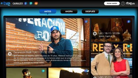 +TVE, la app de segunda pantalla para ver series y películas de RTVE, como Isabel o
