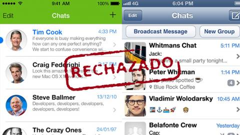 whatsapp ios7 rechazado