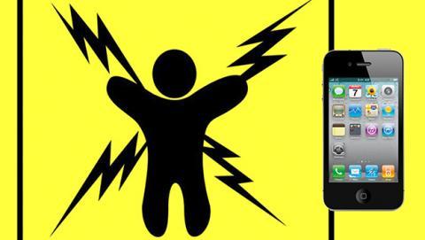 electrocución iphone