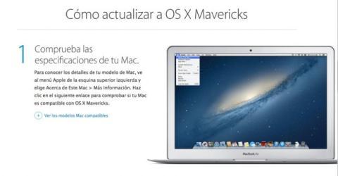 Comprueba la compatibilidad de tu Mac con Mavericks