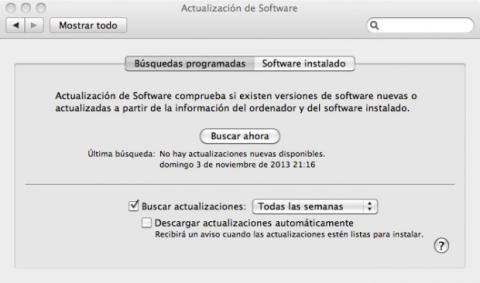 Actualiza el software de tu Mac