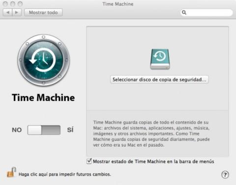 Haz una copia en Time Machine