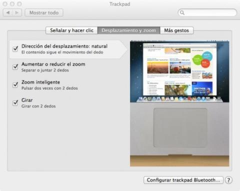 Configura el trackpad
