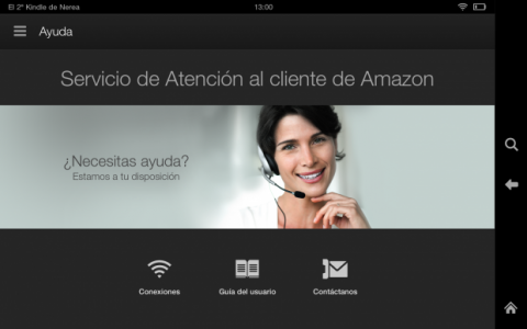 Atención al cliente Amazon Kindle Fire HDX