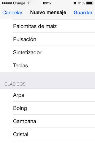 tonos whatsapp para iOs 7