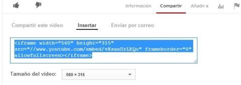Copia el código de YouTube