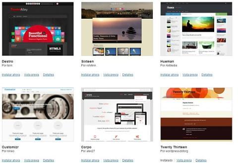 Temas destacados de Wordpress