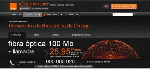 Fibra óptica de Orange