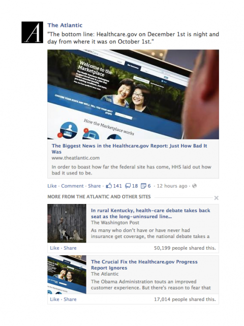 Facebook actualización news feed