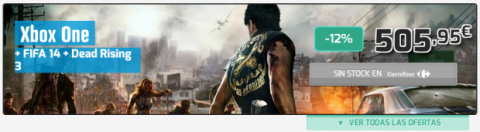 pack xbox one con fifa y dead rising 3