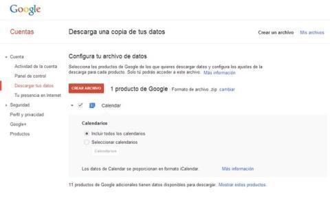Descargar calendario Gmail