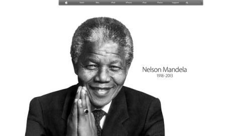 Apple, Amazon y Google homenajean a Nelson Mandela