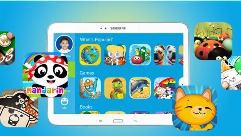 Samsung y Fingerprint anuncian una plataforma móvil de apps para niños
