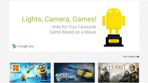 Votaciones Mejores Apps 2013 Google Play