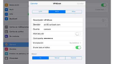 Conéctate a una red VPN desde tu iPad