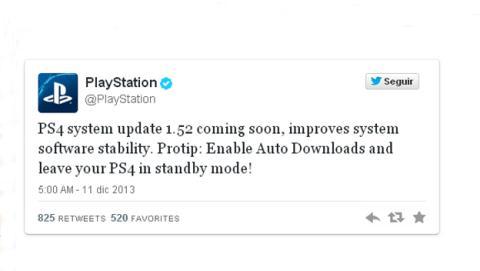 Playstation actualización 1.52