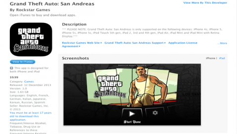 GTA San Andreas para iPhone y iPad