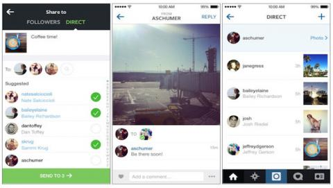 Instagram Direct, la función de mensajería directa