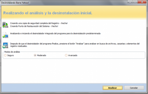 Elimina Yahoo! Toolbar con Revo Uninstaller