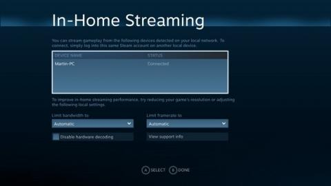SteamOS streaming