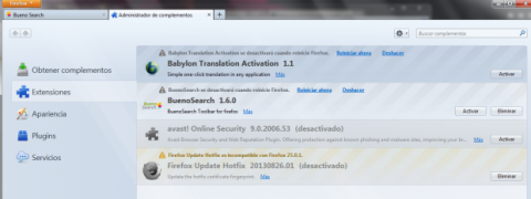 Quita Babylon Toolbar de Mozilla FireFox