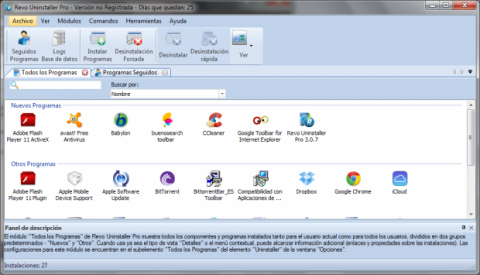 Borra Babylon Toolbar con Revo Uninstaller
