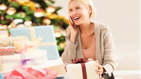 Novia con regalos