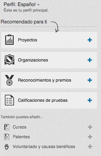 Apartados LinkedIn