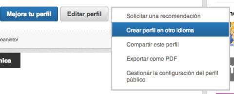 Crear perfil en otro idioma LinkedIn