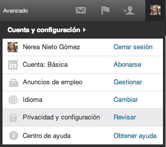 Configurar privacidad LinkedIn