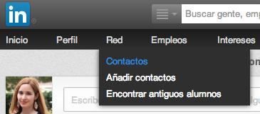 Gestionar contactos LinkedIn