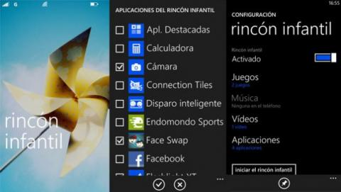 Rincón Infantil de Windows Phone