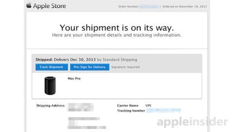 Primeros envíos de Mac Pro llegan a tiempo para Navidad