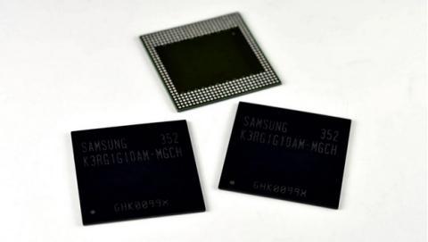 Samsung diseña un chip de memoria RAM de 4 GB para los smartphones