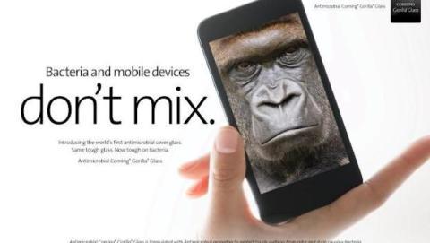 ¡Adiós, gérmenes! Gorilla Glass Antimicrobiana llega a CES 2014