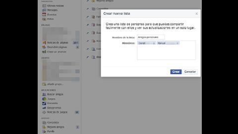 Organiza a tus amigos en Facebook