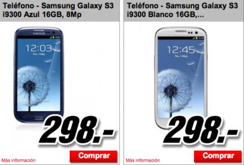 oferta Samsung Galaxy S3 Mediamarkt